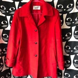 Vintage 60s  red pea coat Fashionfila